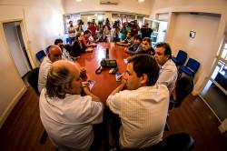 """""""Realmente se vuelve a notar uno descenso abrupto de los índices de inseguridad"""", dijo el ministro Alejandro Granados en la reunión de trabajo que mantuvo con Juan Pablo de Jesús"""