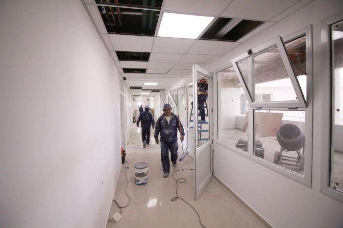 Comienzan los momentos culminantes en la obra de ampliación del hospital de Mar de Ajó