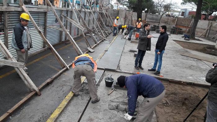 Continúa la obra del boulevard de Mar de Ajó