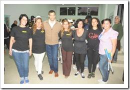 El Intendente junto a integrantes del CC Las Toninas