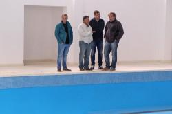 De Jesús visitó la nueva pileta del natatorio municipal