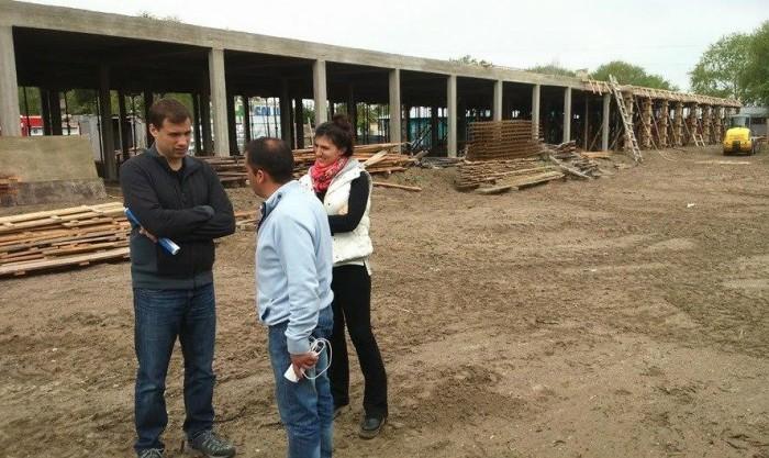 EL intendente recorrió la hobra del hospital municipal para Santa Teresita