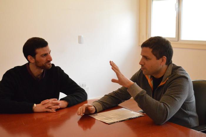 El contador recibido en La Costa, Alan Spazzuta, se reunió con el intendente Juan Pablo de Jesús