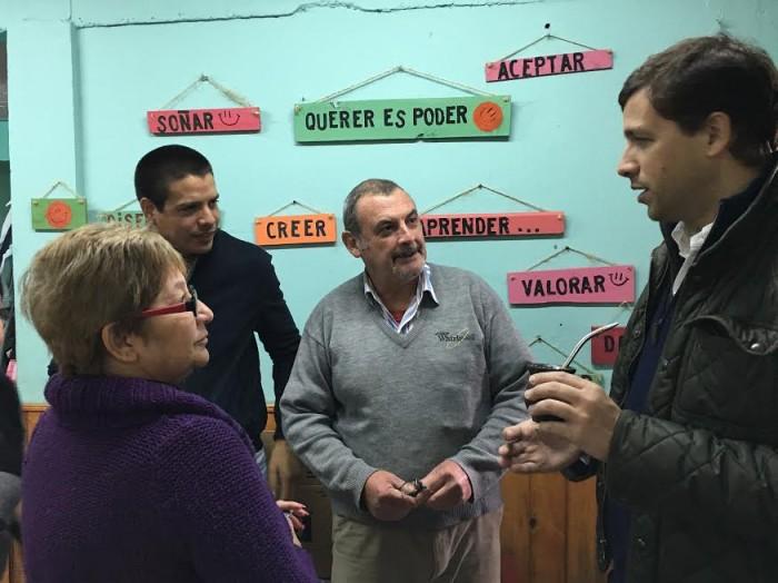 El intendente De Jesús dialogó con los representantes del THAF