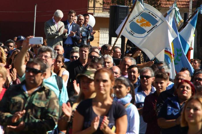 El intendente De Jesús encabezó el acto oficial en Las Toninas