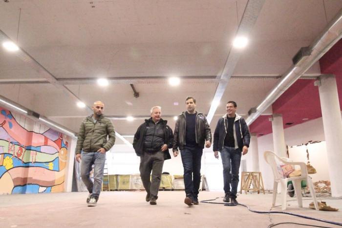 El intendente De Jesús recorrió la obra de ampliación del Centro Cultural San Barnardo