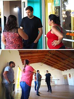 El intendente De Jesús visitó el Centro Comunitario Eva Perón