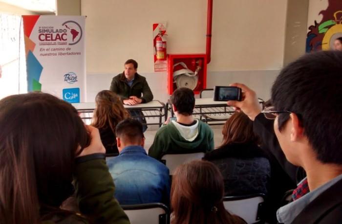 El intendente Juan Pablo de Jesús fue entrevistado por los encargados de la prensa de la cumbrejpg