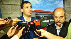 El intendente Juan Pablo de Jesús junto al ministro de Seguridad bonaerense, Alejandro Granados
