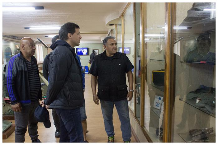 El intendente Juan Pablo de Jesús mantuvo un encuentro con excombatientes de Malvinas en el Museo de Santa Teresita