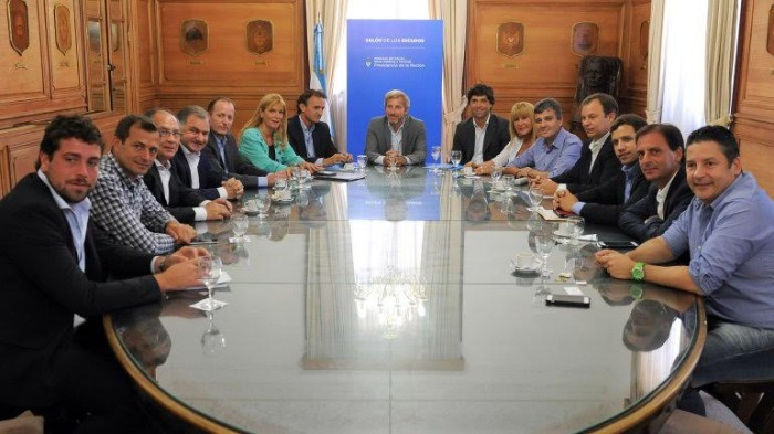 El intendente Juan Pablo de Jesús participó de una reunión con el ministro del Interior, Rogelio Frigerio