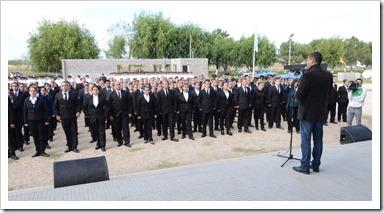 El intendente Juan Pablo de Jesús, encabezó el acto de inauguración del ciclo lectivo 2015 para los cadetes