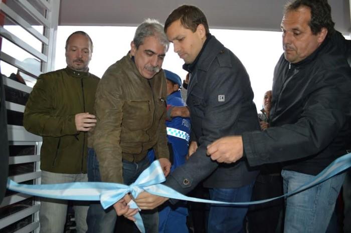 El intendente de Jesús y Aníbal Fernández inaugurando el nuevo jardín