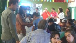El intendente de la Municipalidad de La Costa, Juan Pablo de Jesús, compartió un almuerzo con empleados municipales