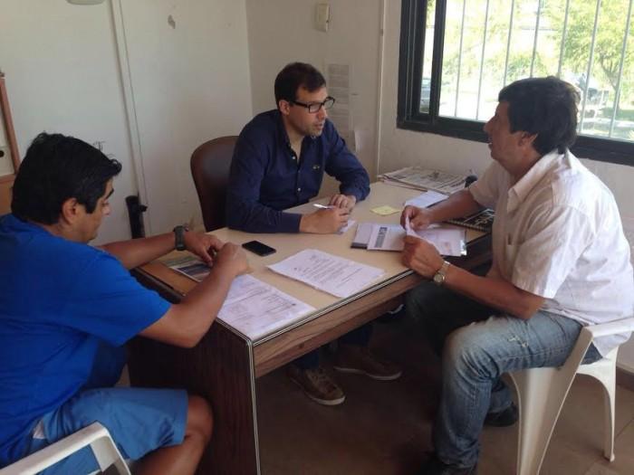 El intendnete se reunió con el delegado de la UDG de Santa Teresita, Oscar Zuetta