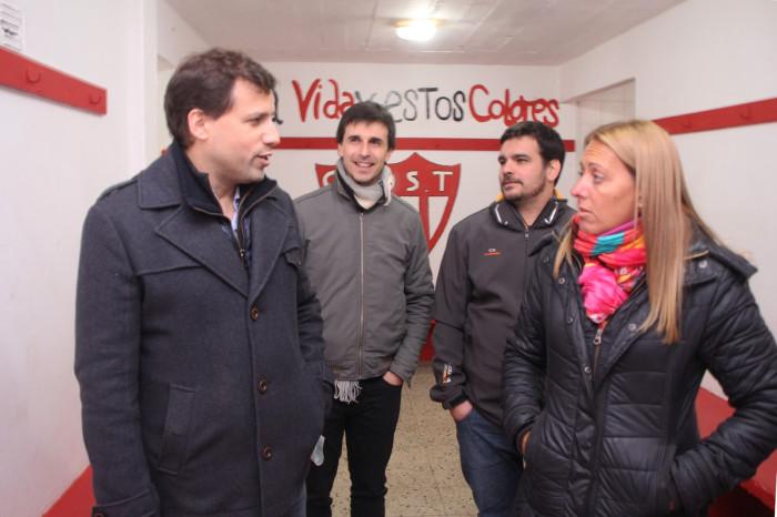 El jefe comunal de La Costa dialogó con la presidenta del Club, María Eugenia Vidal