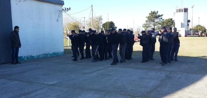 El mandatario comunal del Partido de La Costa visitó el entrenamiento de los cadetes de la Policía Local