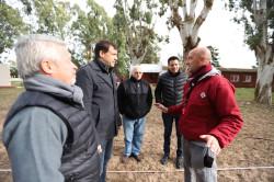 El subsidio municipal se usará para obras en el patio de la institución sanclementina