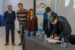 En el evento desarrollado en el Espacio Multicultural de San Bernardo estuvieron presentes también el vicerrector de la Universidad Arturo Jauretche, Arnaldo Medina