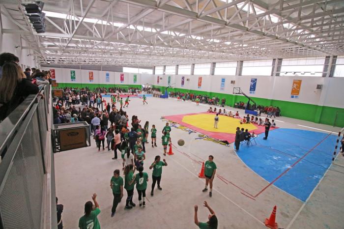 Hubo exhibiciones deportivas de taekwondo, básquet, patín, vóley