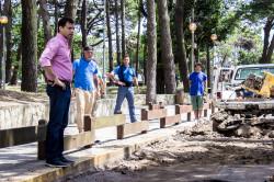 De recorrida por las obras de recapado en San Bernardo
