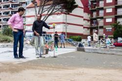 El intendente Juan Pablo de Jesús recorrió las obras de la plaza seca
