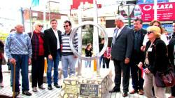 Inauguración del monumento de Ciudades Hermanas en San Clemente