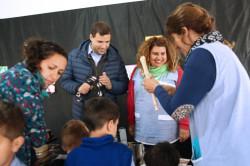 Juan Pablo compartió la mañana con alumnos y docentes