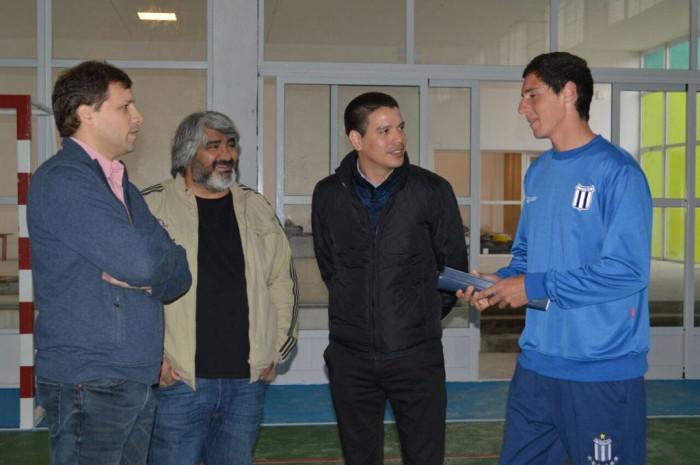 Juan Pablo de Jesús, Diego Pedros, Cristian Cardozo y el joven tenista Ariel Vázquez