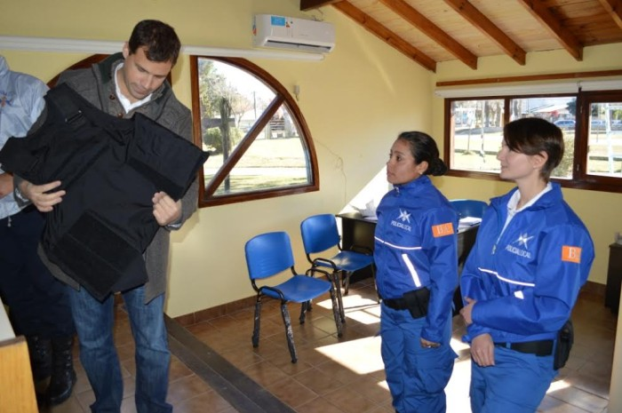 Juan Pablo de Jesús conversó con los efectivos de la nueva fuerza de seguridad de La Costa