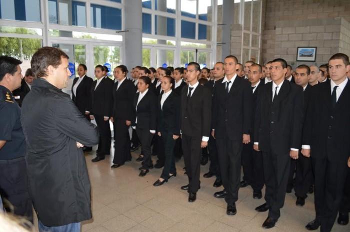 Juan Pablo de Jesús dio la bienvenida a los nuevos cadetes de la Policía Local