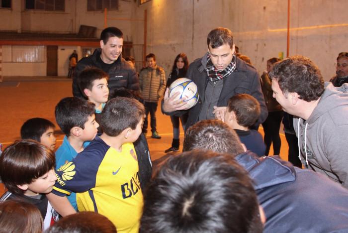 Juan Pablo de Jesús recorrió el Club Social y Deportivo Mar del Tuyú