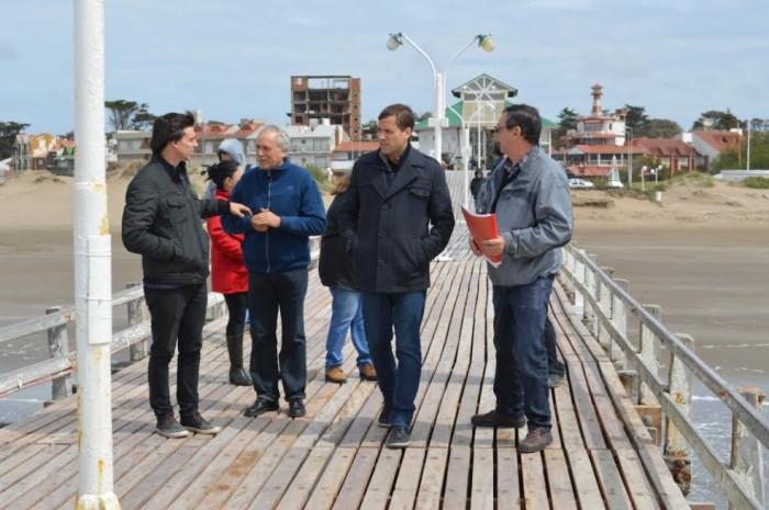 Juan Pablo de Jesús se reunió con autoridades de la Sociedad de Fomento de Mar del Tuyú