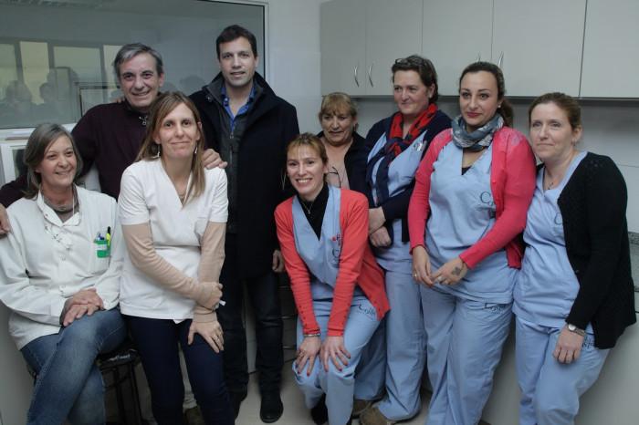 Junto a trabajadores de Salud De Jesús inauguró mejoras para el Laboratorio