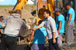 La Costa realiza la obra de colocación de gaviones en Las Toninas