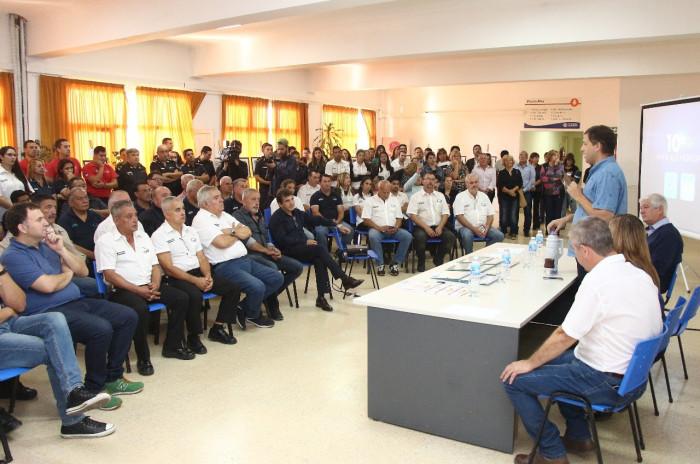 La Municipalidad de La COsta realizó un acto para destacar la labor de trabajadores de seguridad