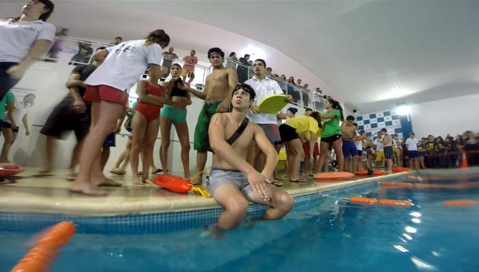 La competencia de natación de las Olimpíadas Escolares se hizo en Mar de Ajó