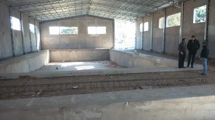 La obra de 1600 metros cuadrados se lleva a cabo en los terrenos linderos al Polideportivo del Barrio Las Quintas