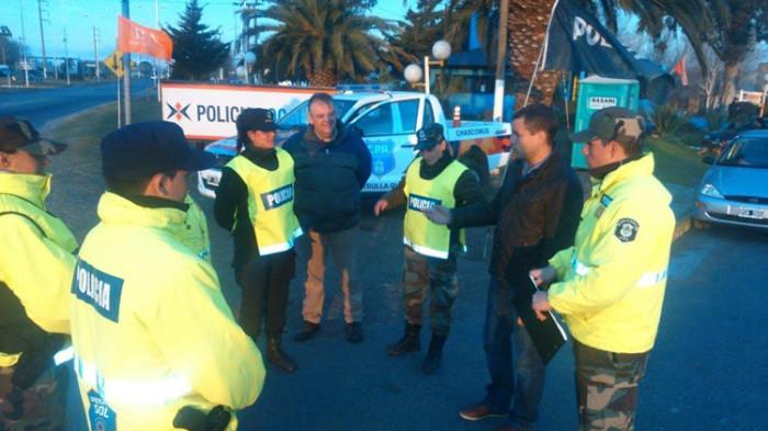 Los equipamientos fueron recibidos en la base de la Policía Local de Mar de Ajó, ubicada en el acceso a localidad de la zona sur del distrito