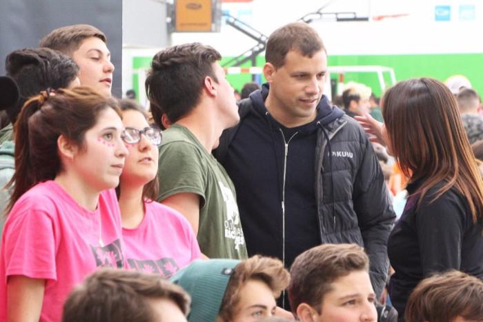 Los jóvenes charlaron con el intendente Juan Pablo de Jesús