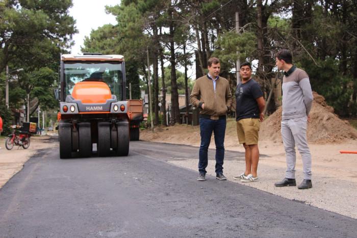 Obras de pavimentación en Costa del Este