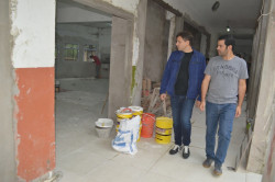 Recorrida por la obra de ampliación y mejoramiento de la Escuela Municipal de Bellas Artes