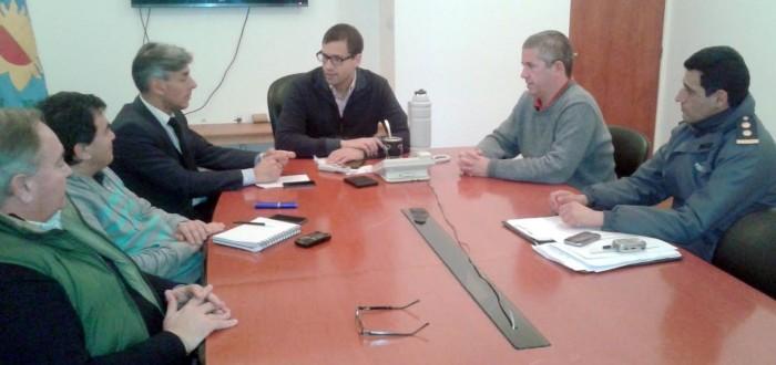 Reunión con autoridadades de Seguridad de La Costa