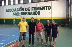 Reunión con autoridades de la Asociación de Fomento San Bernardo