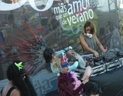 Silvina Luna fue parte de la fiesta en San Bernardo