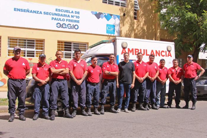 el intendente Juan Pablo de Jesús saludó al equipo de Defensa Civil de la Municipalidad de La Costa