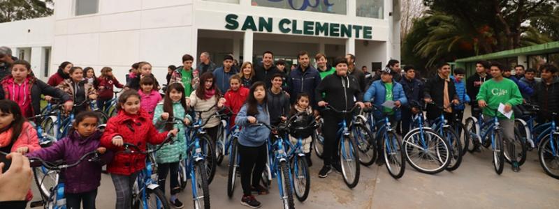 «Vamos todos en Bici» pasó por San Clemente y Santa Teresita