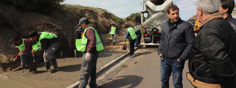 Se amplía la obra de mejoramiento de espacios públicos en Mar del Tuyú